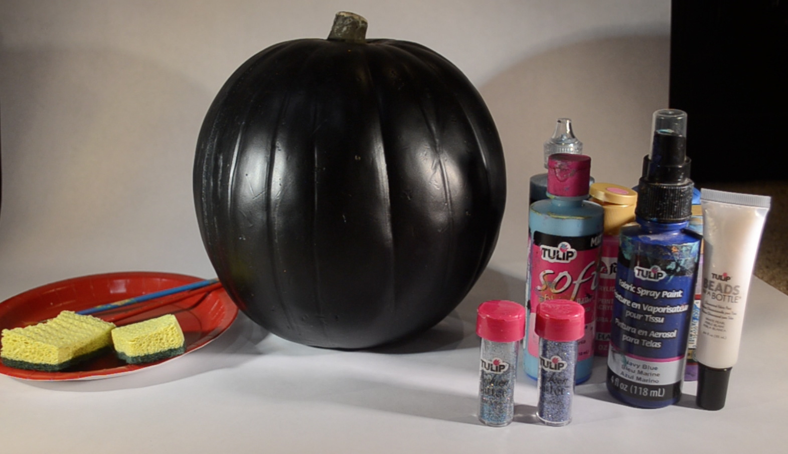 galaxy art pumpkin supplies