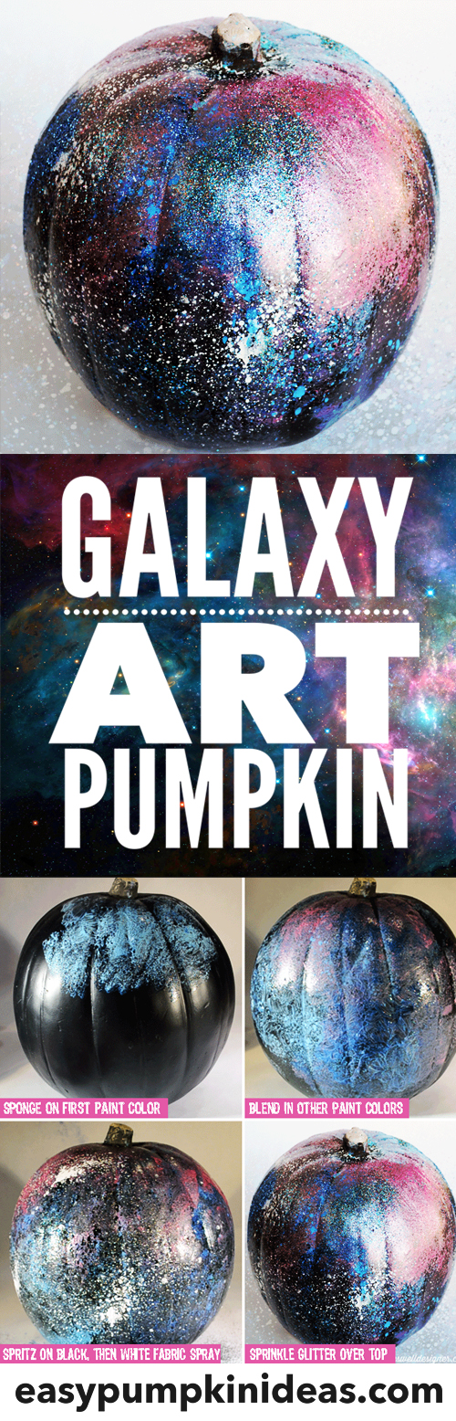 galaxy art pumpkins