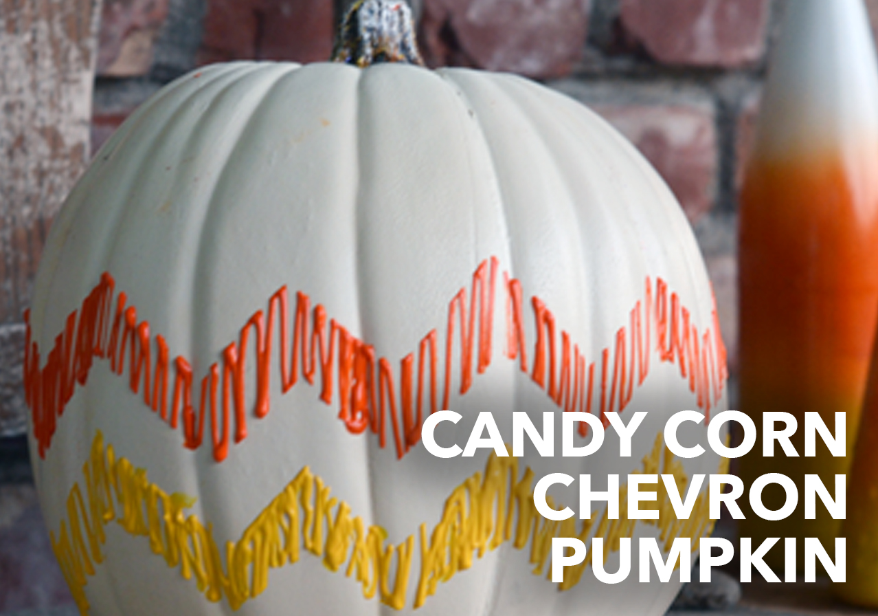 chevron candy corn pumpkin