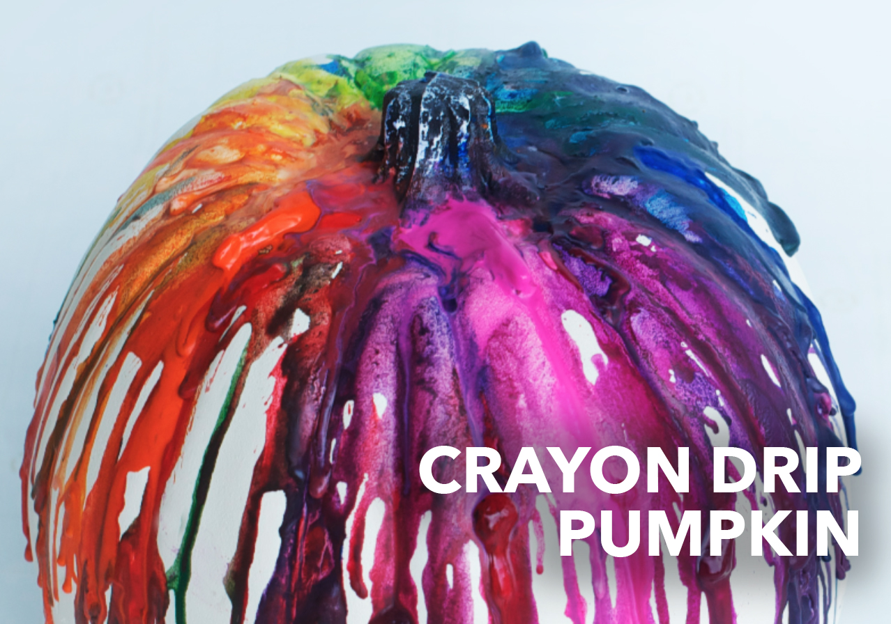 crayon drip pumpkin diy craft kids