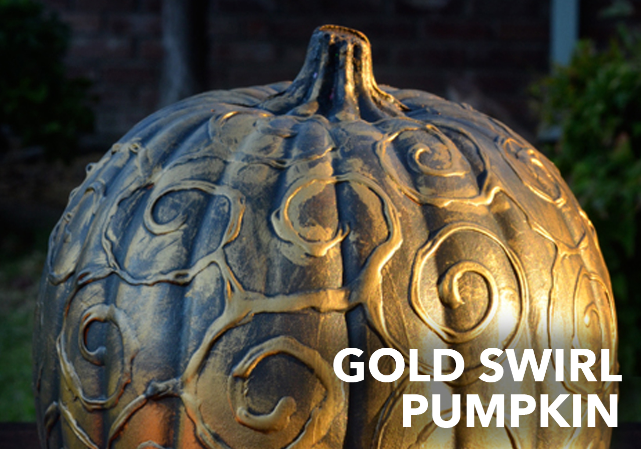gold swirl pumpkin craft